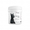A front view of a Pawbits calming for dogs pet food supplement bottle